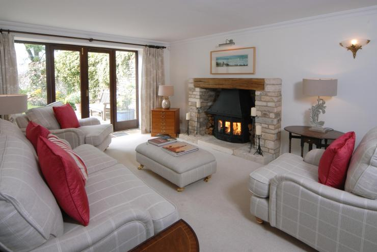The house was built in the 1980s and boasts a fire place in the living room