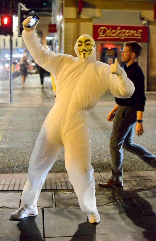 An Anonymous member made a Halloween appearance