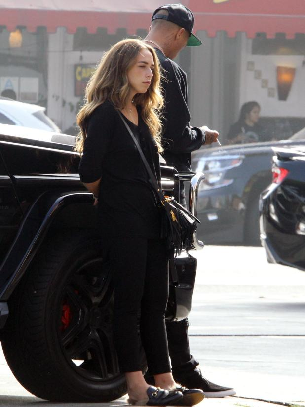 Chloe Green and Jeremy Meeks looked miserable as they stopped off at Subway in LA