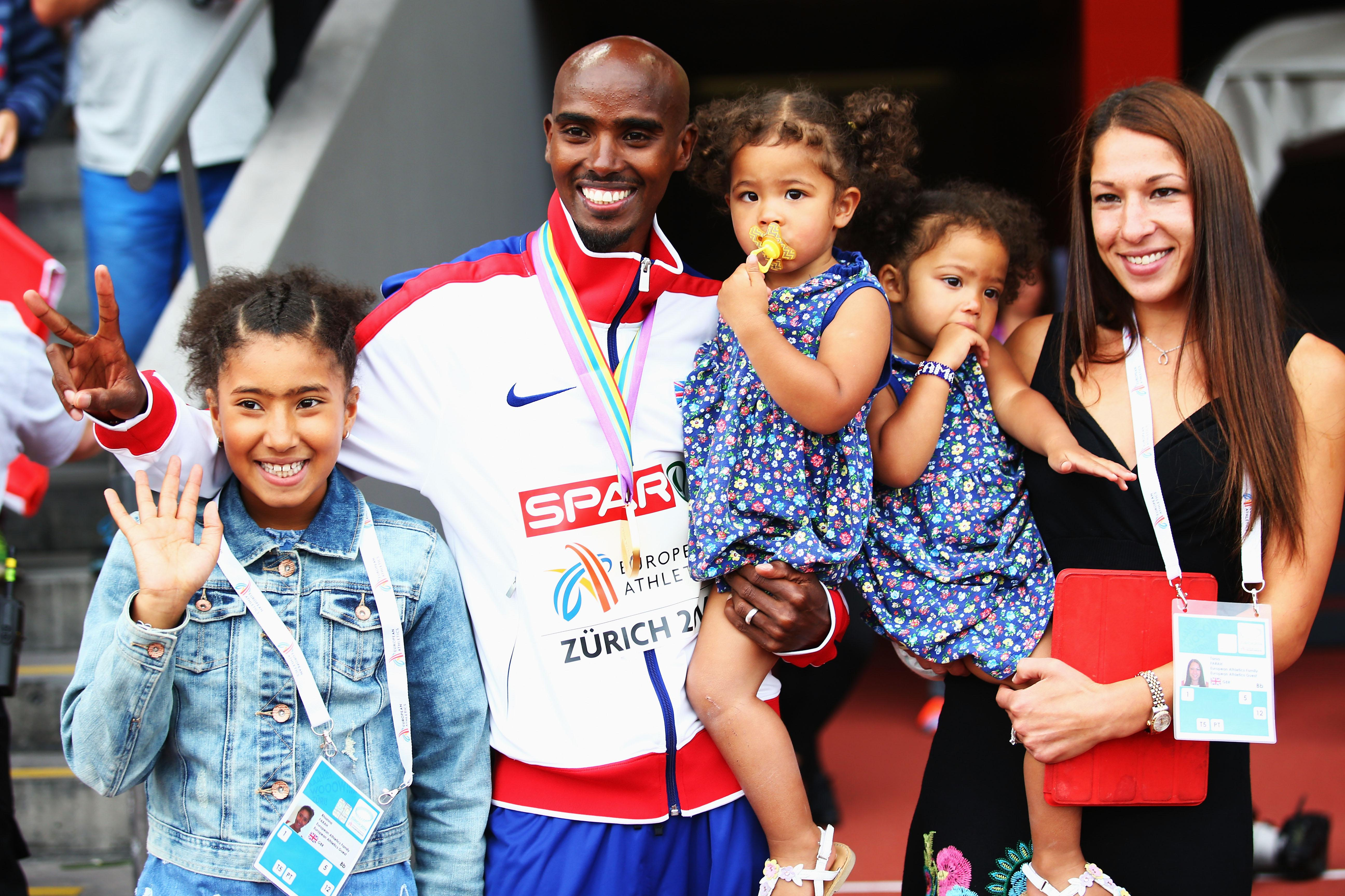 Mo Farah will be moving back to London to live with his family