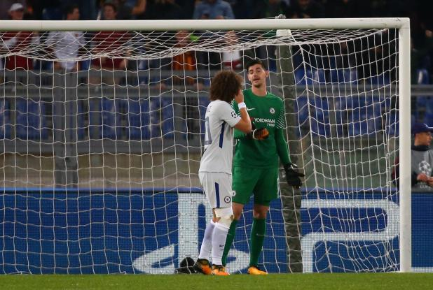 Thibaut Courtois picked the ball out of his own net three times against Roma