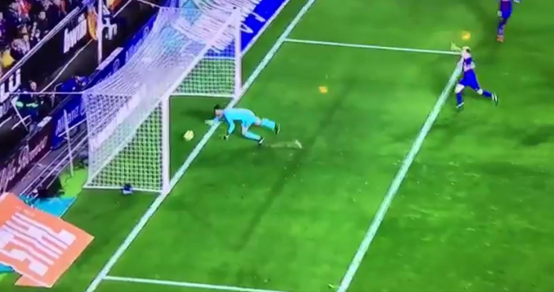 Lionel Messi's shot clearly crossed the line - but it wasn't given