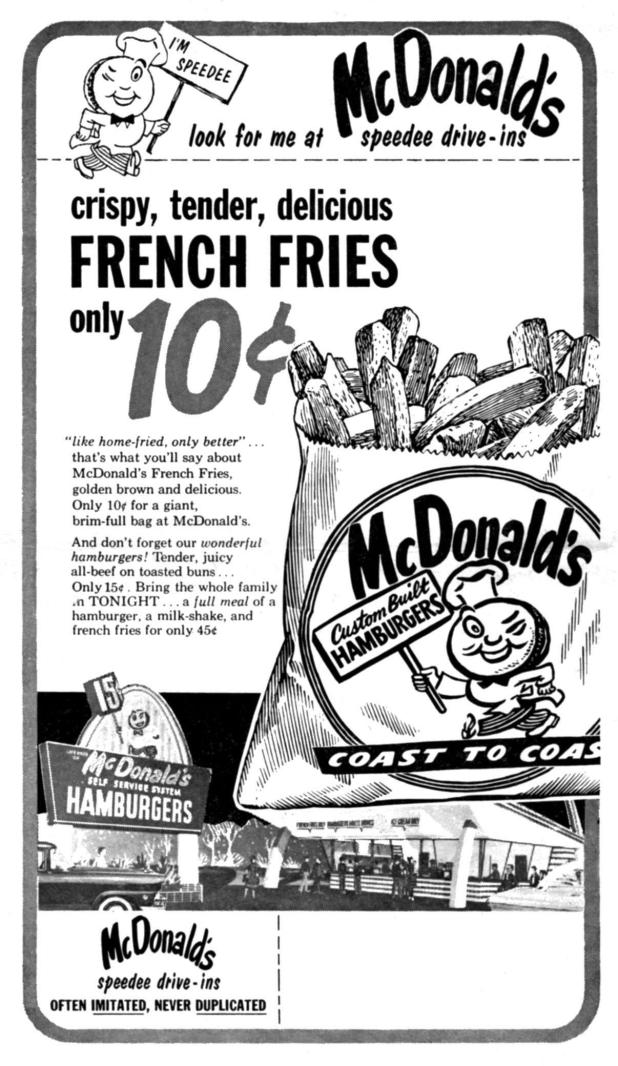 Maccies French fries were the item which made them famous, but they bowed to pressure to change the recipe