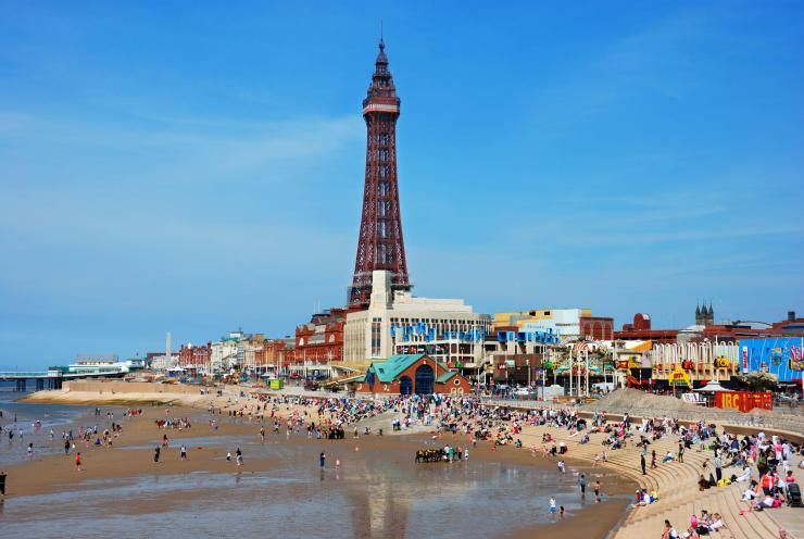 Iconic rides on a British beachfront are just some of the things to do on a family day out in Blackpool