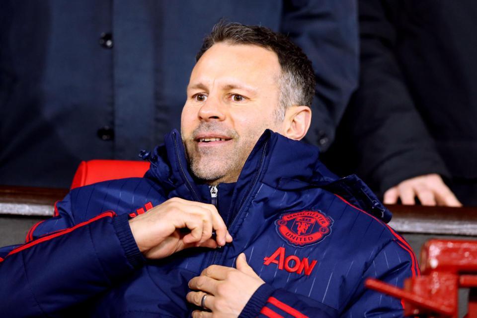 Ryan Giggs briefly took control at Man United in 2014, replacing David Moyes