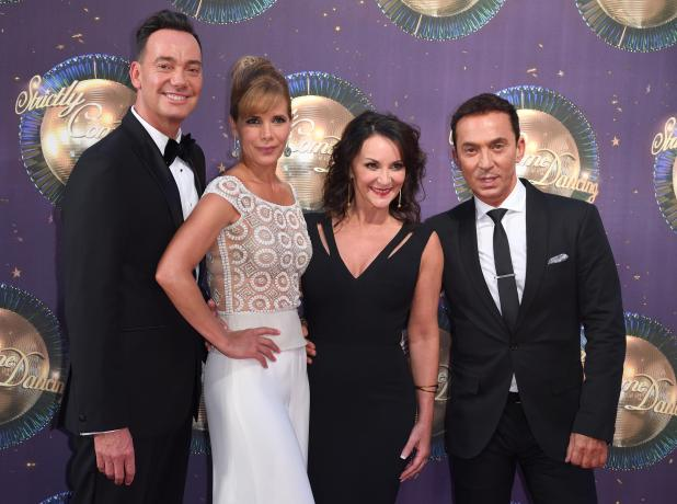 From left, judges Craig Revel Horwood, Darcey Bussell, Shirley Ballas and Bruno Tonioli were clearly not pleased by Aston's dance