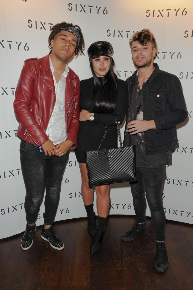 Marnie Simpson was also partying at the hotel with boyfriend Casey Johnson (right)