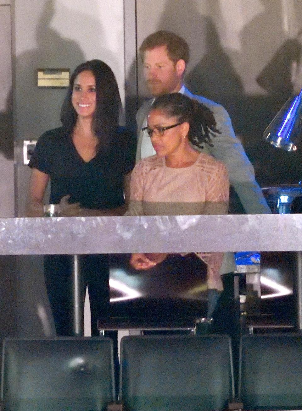 Meghan wore trousers while attending the Invictus Games with Harry and her mum