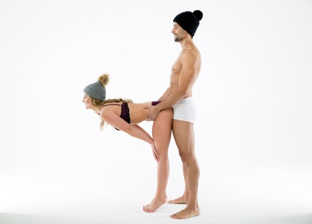 Let him take charge by having him grab her hips in the Pocket Rocket position