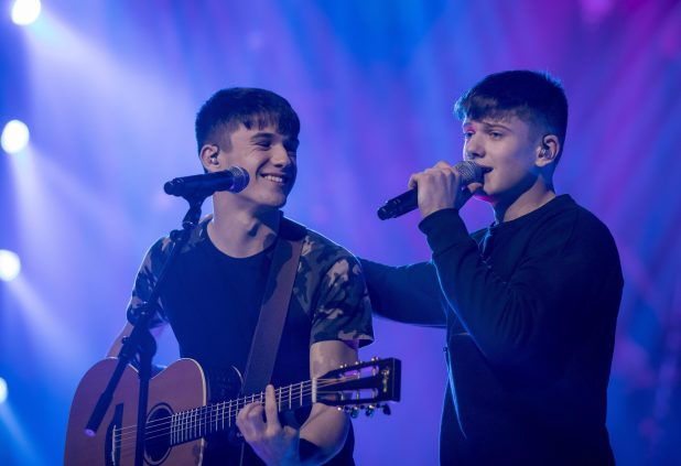 Sean and Conor Price seemed happy with their rehearsal