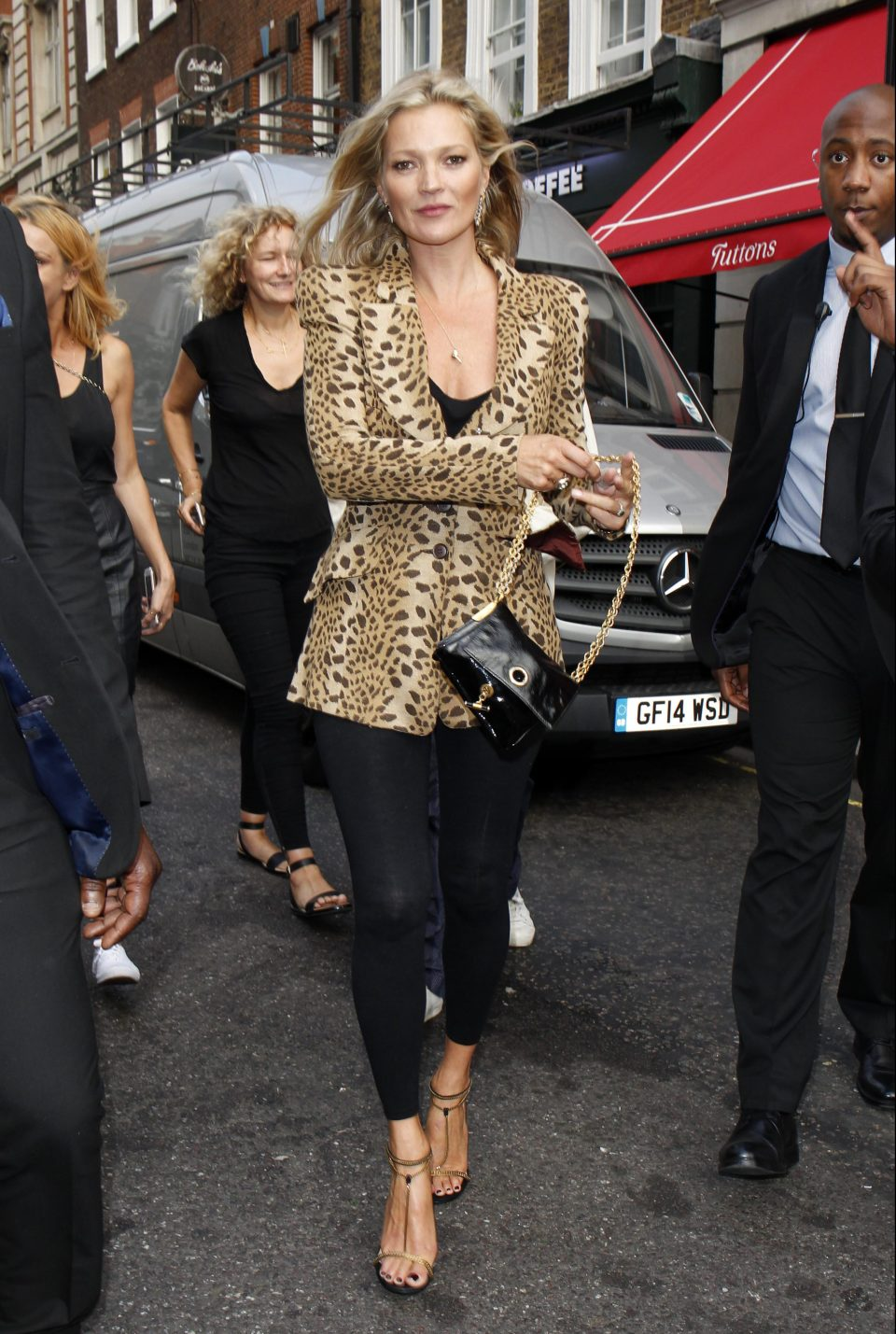 The actual Kate Moss, who people say Denise is the double of