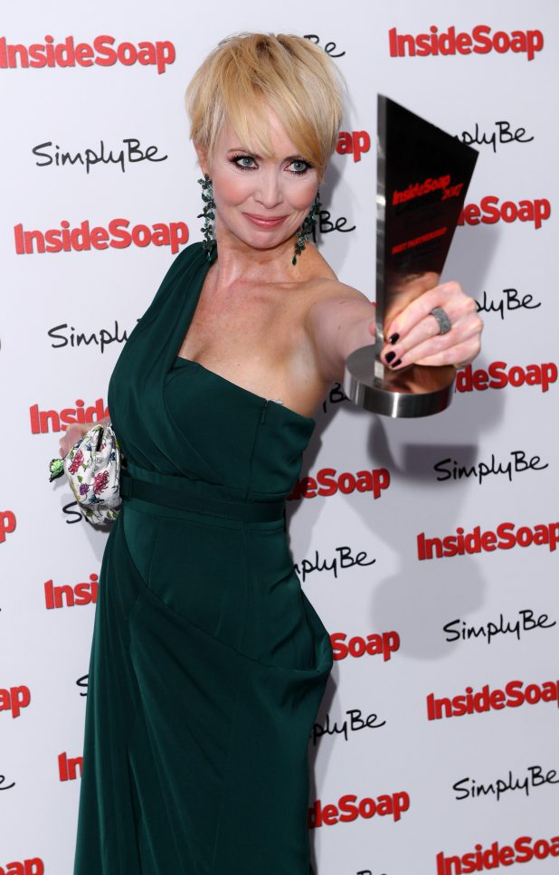 Lysette Anthony struck a pose on the red carpet