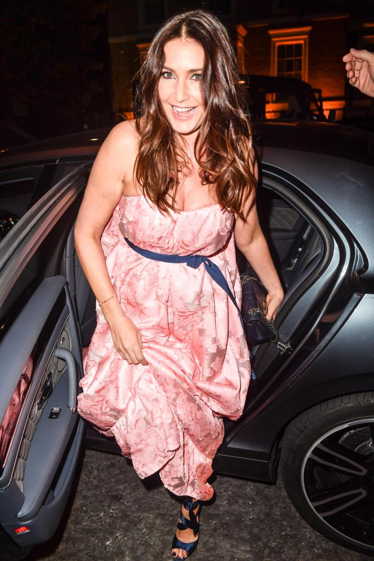 Lisa was all smiles as she arrived at the London bash