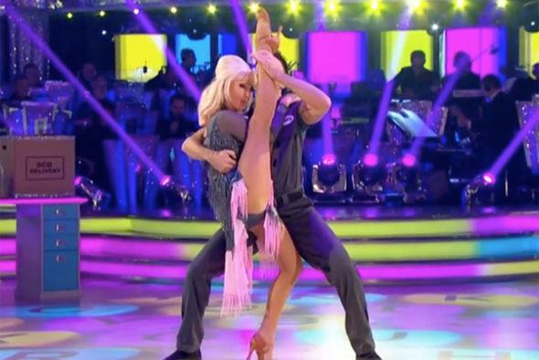 Debbie McGee has wowed judges and the audience with her unbelievable splits