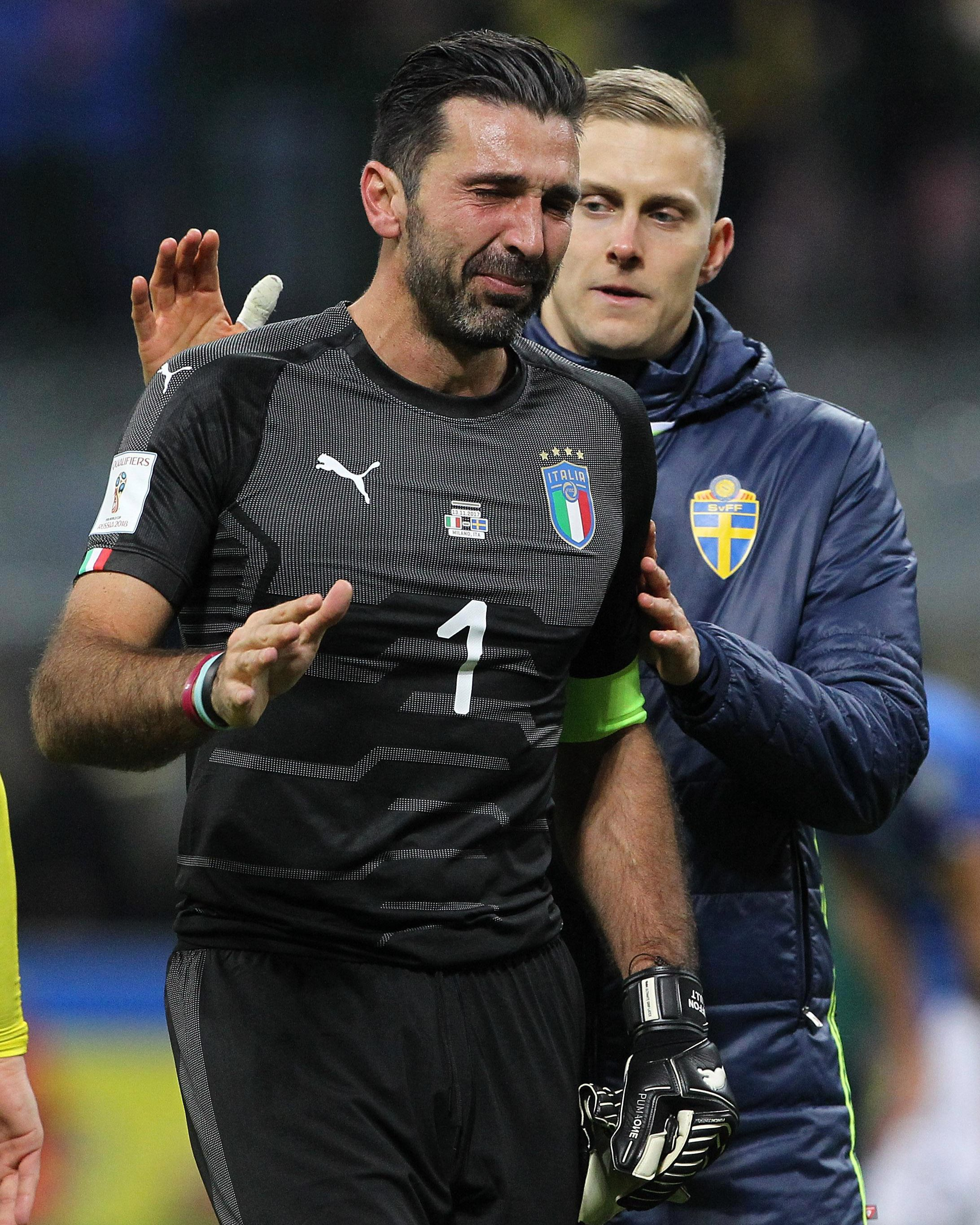Gianluigi Buffon couldn't hide his pain as Italy missed out on the World Cup
