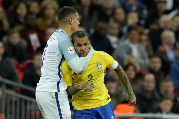 nintchdbpict000366930802 - England 0 Brazil 0: Three Lions held to another goalless draw as Gareth Southgate's men struggle against Samba stars