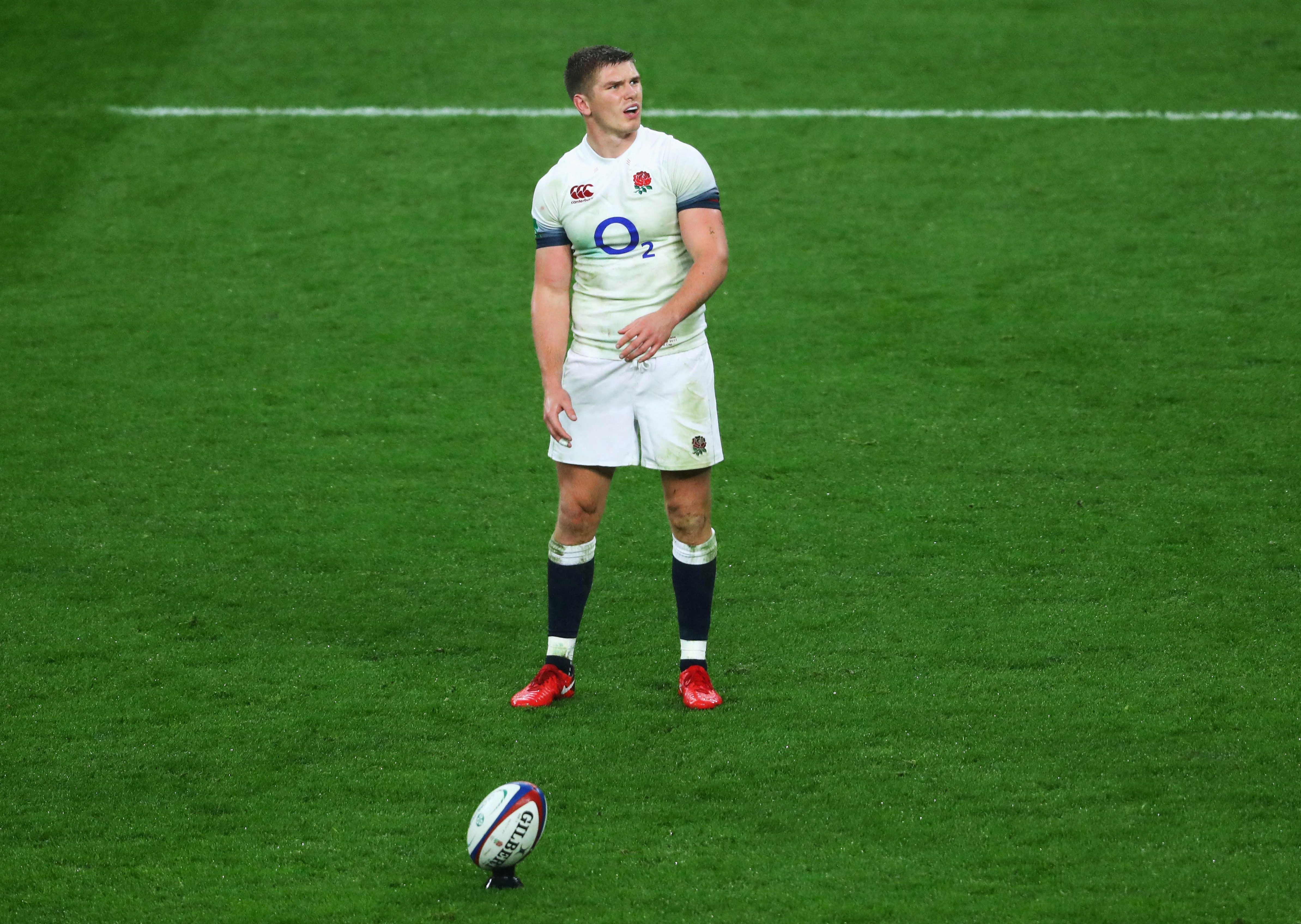 After a strong performance against Italy, Owen Farrell scored a conversion against Wales