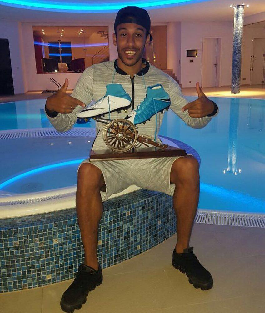 Gabon star Pierre-Emerick Aubameyang has never been shy over flashing his lifestyle on Instagram