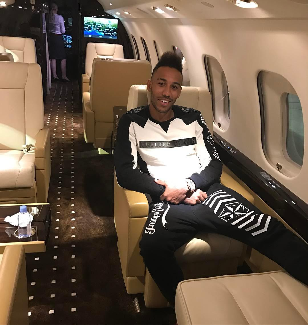 Pierre-Emerick Aubameyang has got used to living the life of absolute luxury
