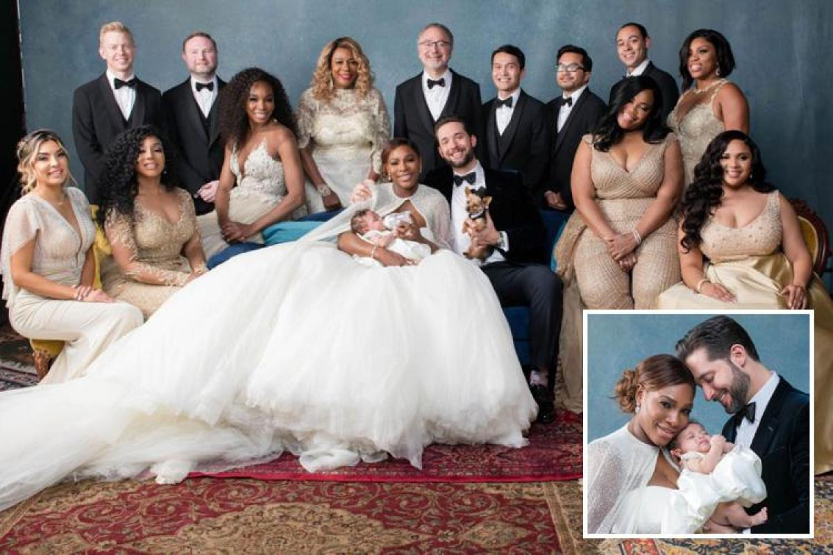 Serena Williams Stuns In A Huge 2 6million Wedding Dress As