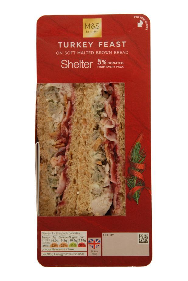 Marks and Spencer's Turkey Feast Christmas sandwich