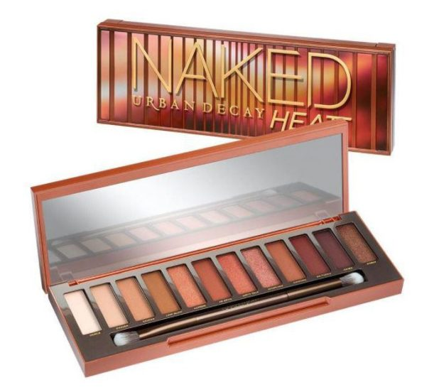 The Urban Decay Naked Heat palette features two extra shades but is £27 dearer