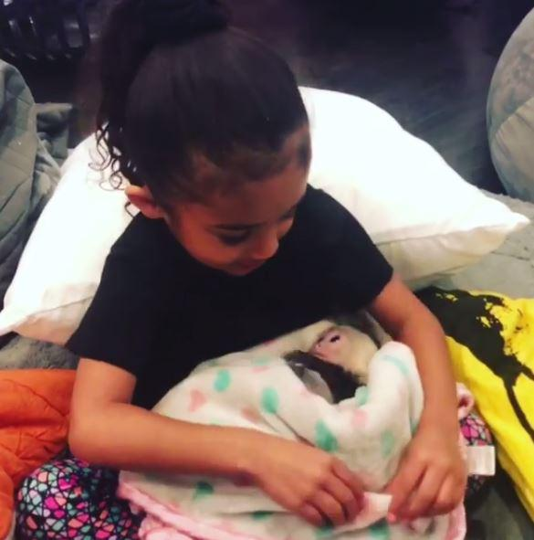 Royalty looked besotted with her new pet