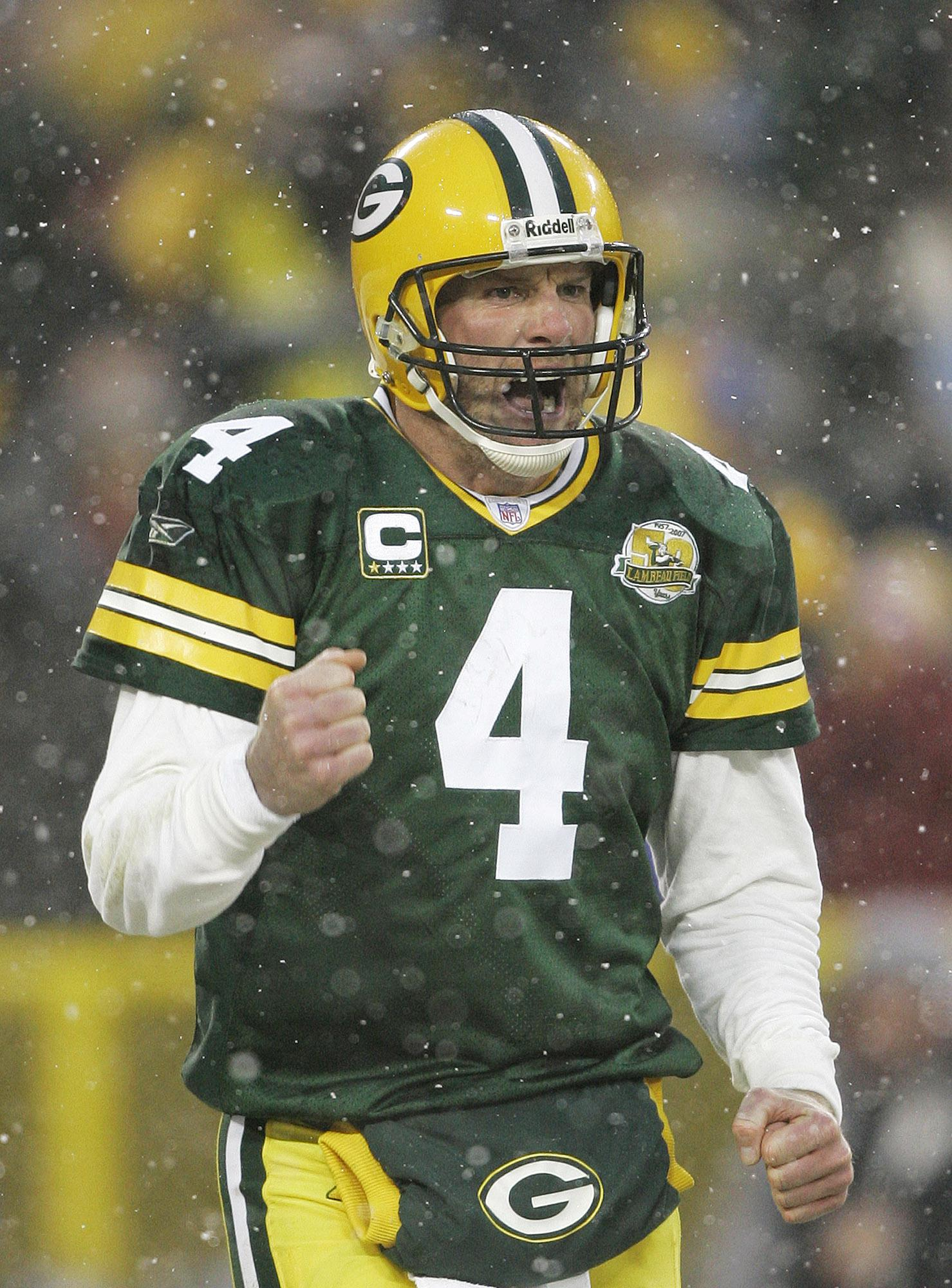 Three-time league MVP Brett Favre held all the NFL records at one point
