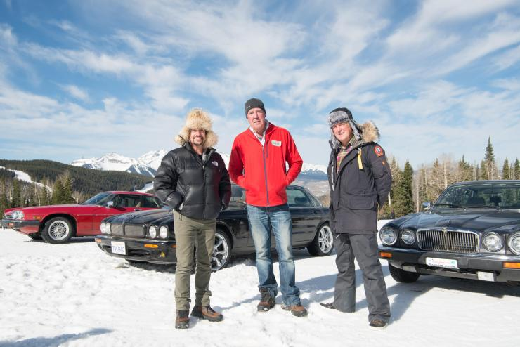 Just Grand . . . Jeremy with Richard Hammond and James May in Colorado