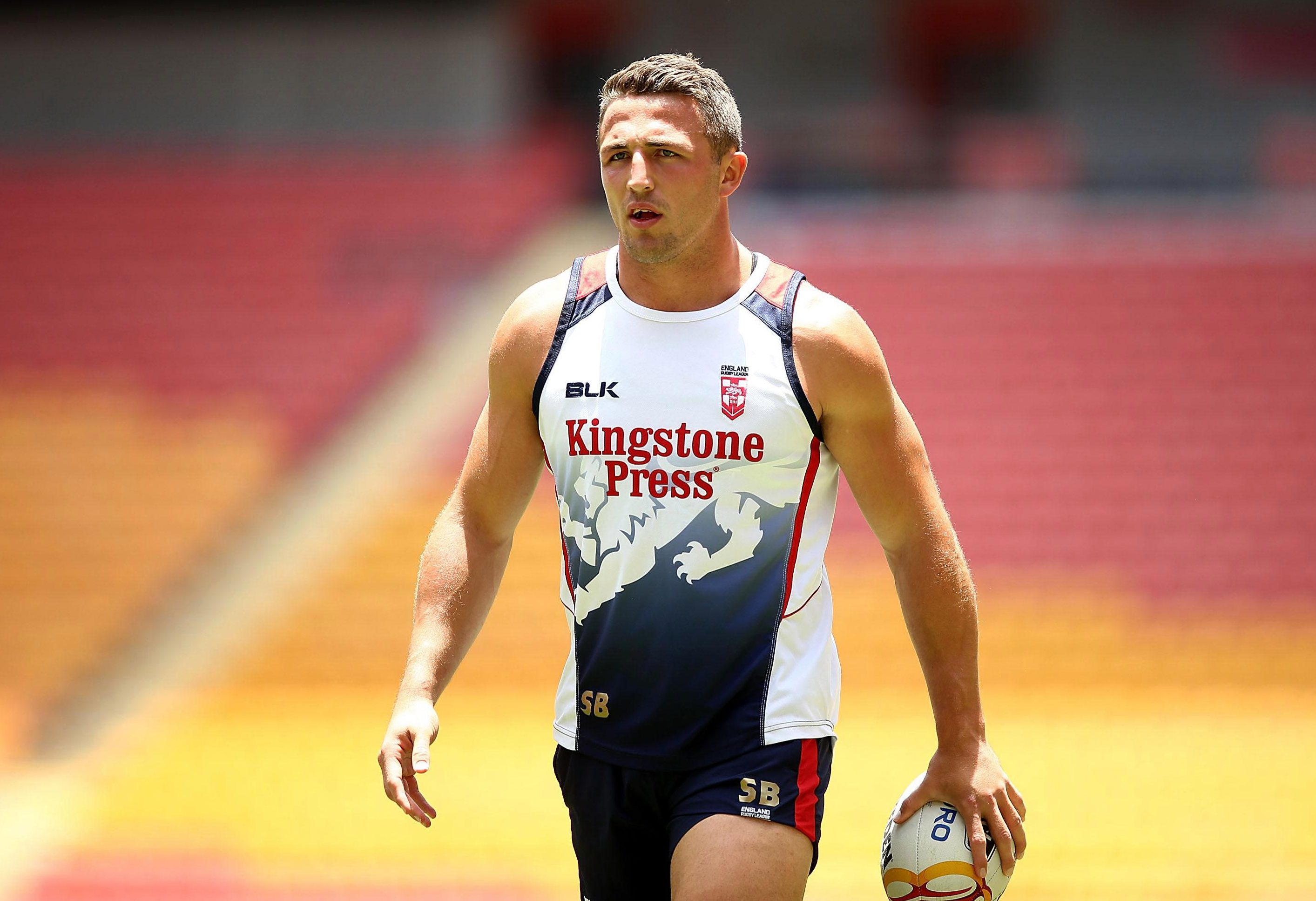 Sam Burgess has come out fighting in support of England's game against New Zealand