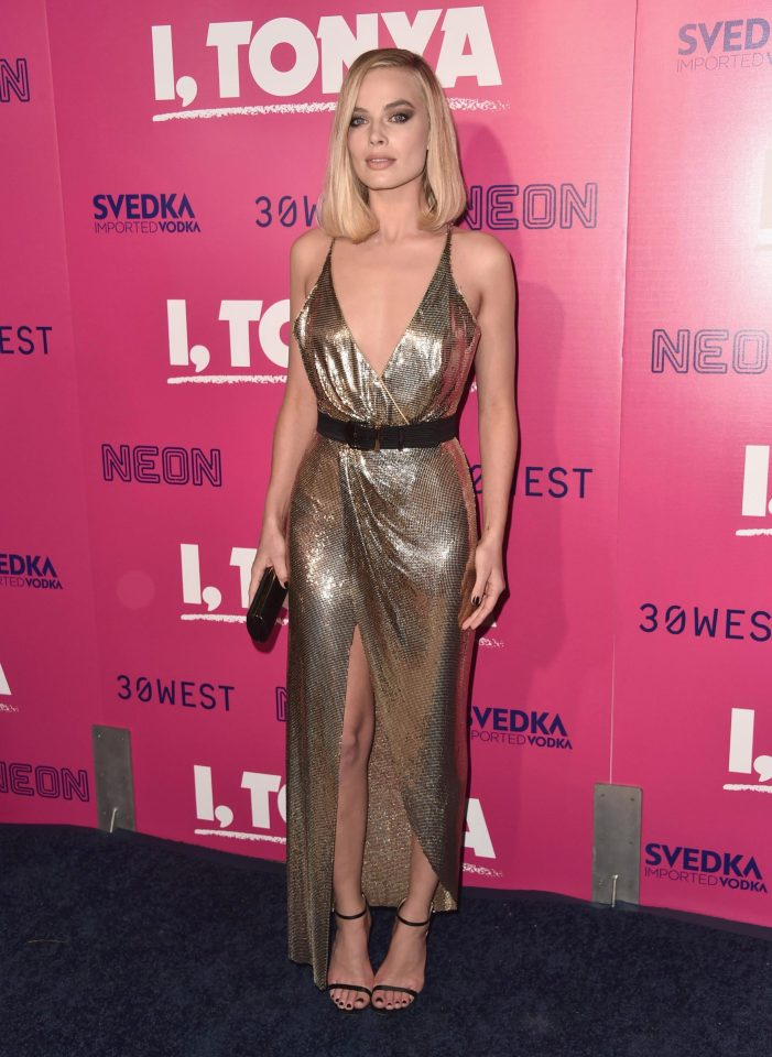 Margot Robbie transformed into her usual glamorous self at the Los Angeles I, Tonya after being in prosthetics for the film's production