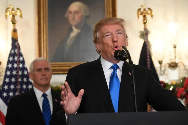 Trump described the recognition of Jerusalem as 'long overdue'