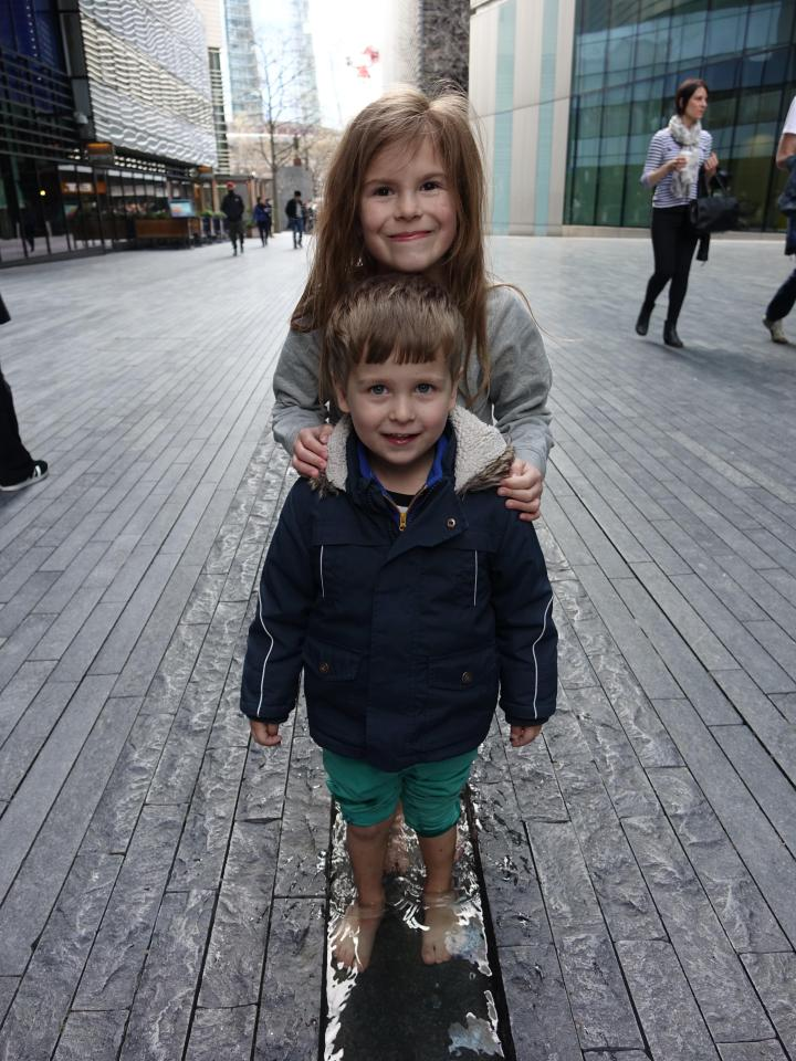 Elly with her younger brother Joshua