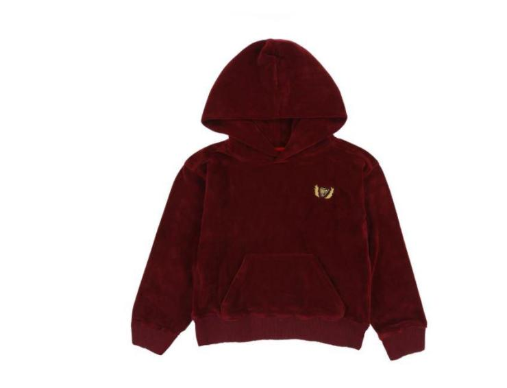 While this ruby red hoodie costs £51