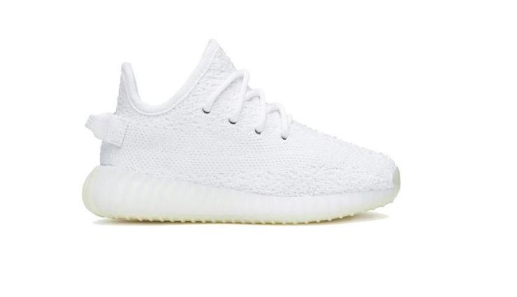 The £82 Yeezy trainers, which are available in both black and white, have already sold out