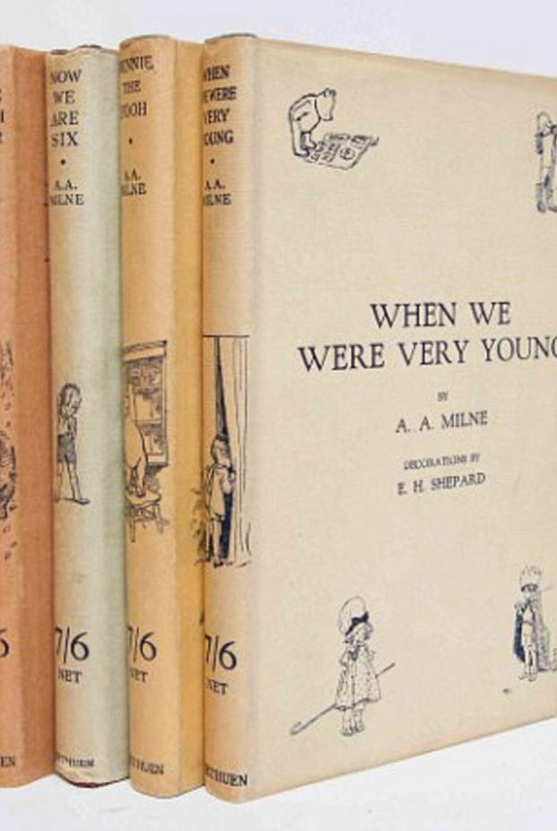 A series of four Winnie The Pooh books are worth between £4k and £10k