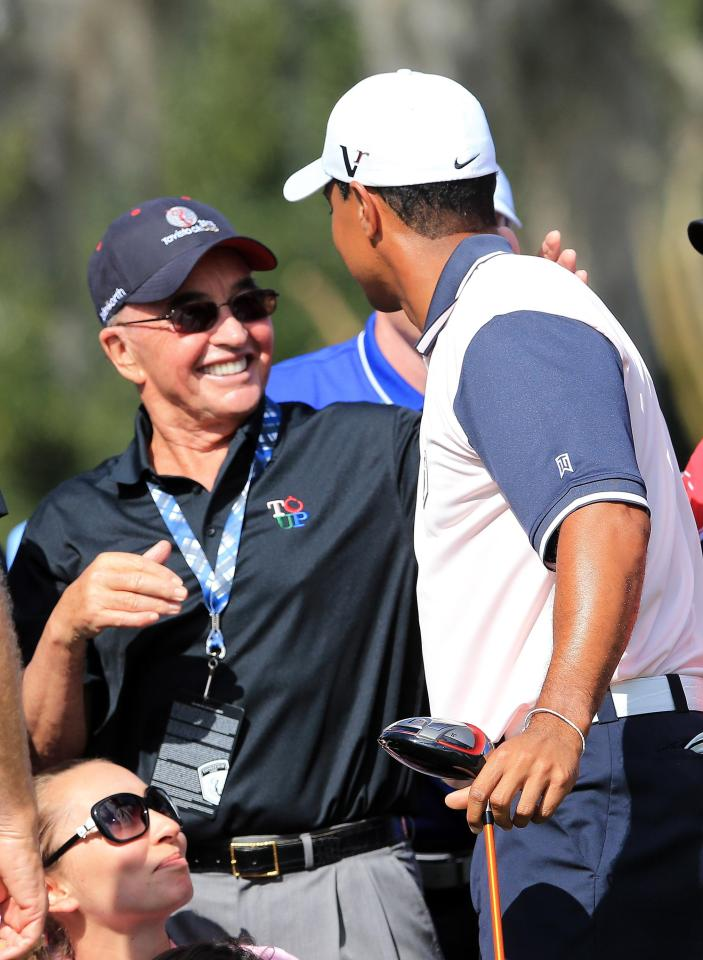 Joe Lewis and Tiger Woods regularly play golf together in Florida