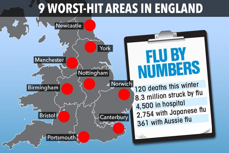 Flu outbreak could reach epidemic in two weeks – as 8.3 million ...