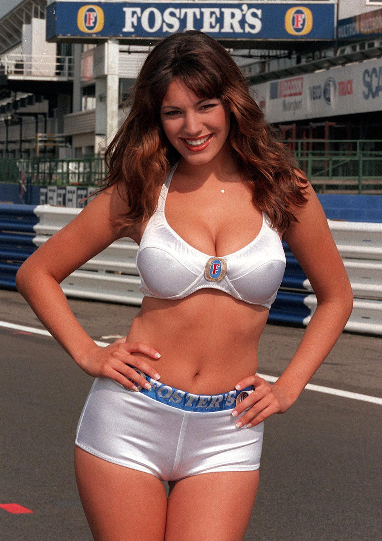 "Kelly Brook once worked as a pit girl and blasted those criticising the job as ""snowflakes"""