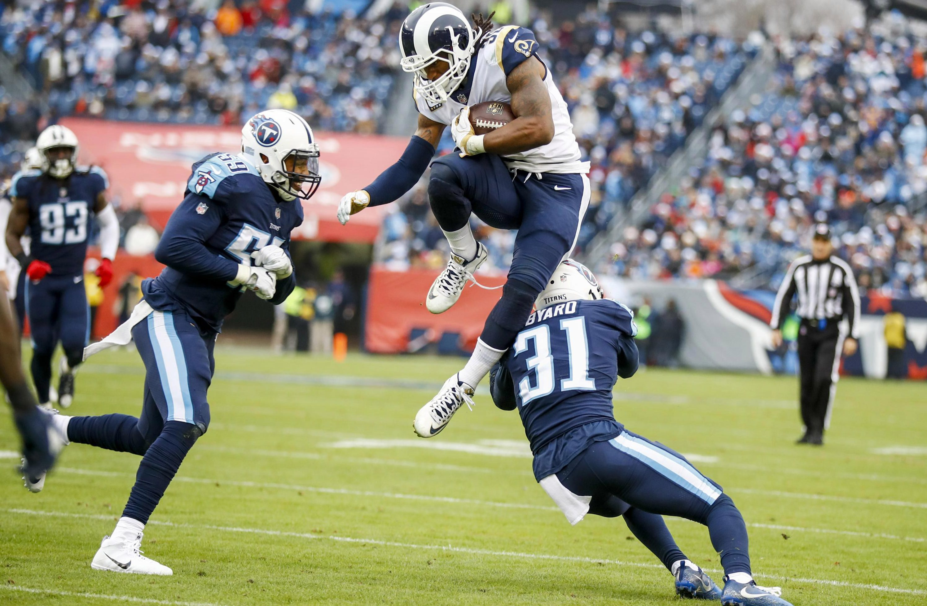 Todd Gurley has been in sensational form to lead the Rams to the playoffs