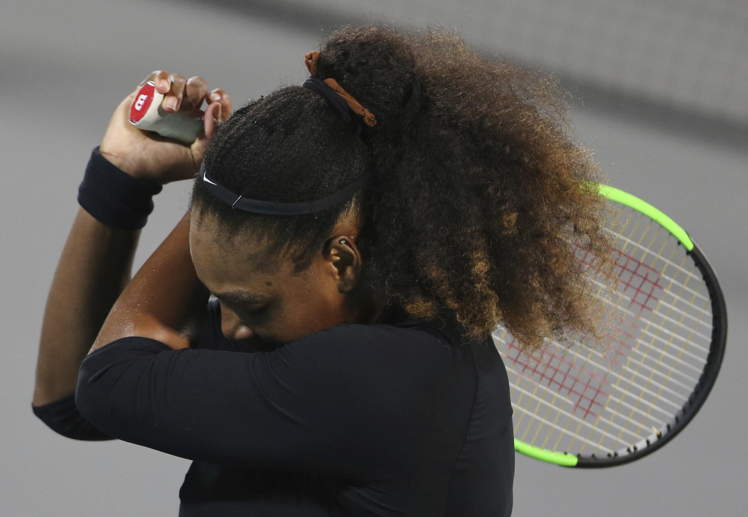 Serena has played just once since giving birth and was frustrated in a defeat to Jelena Ostapenko