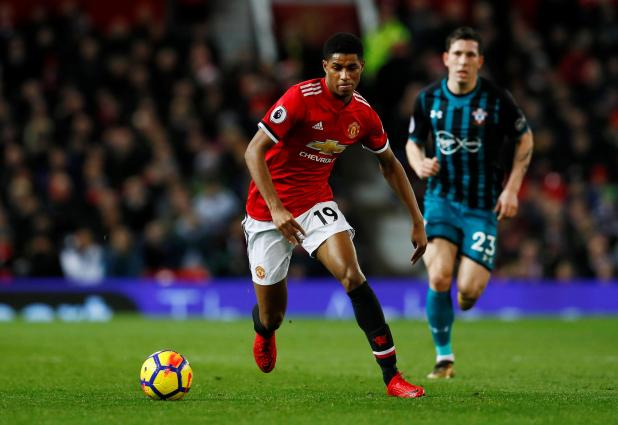 "nintchdbpict000375435368 - Manchester United boss Jose Mourinho jokes he is ""the monster that kills kids"" as he assures Marcus Rashford he is crucial to squad"