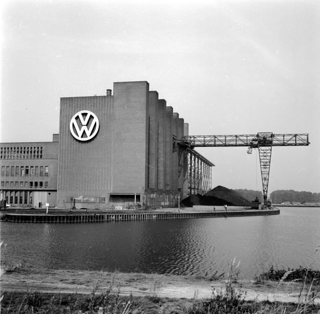 An early picture of the factory after it was rebuilt by the British army