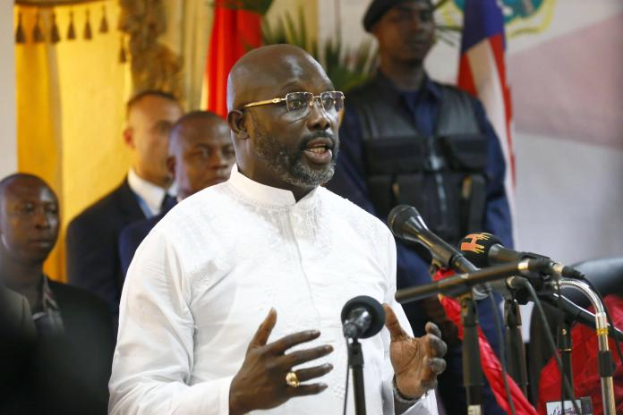 Image result for George Weah inauguration as president