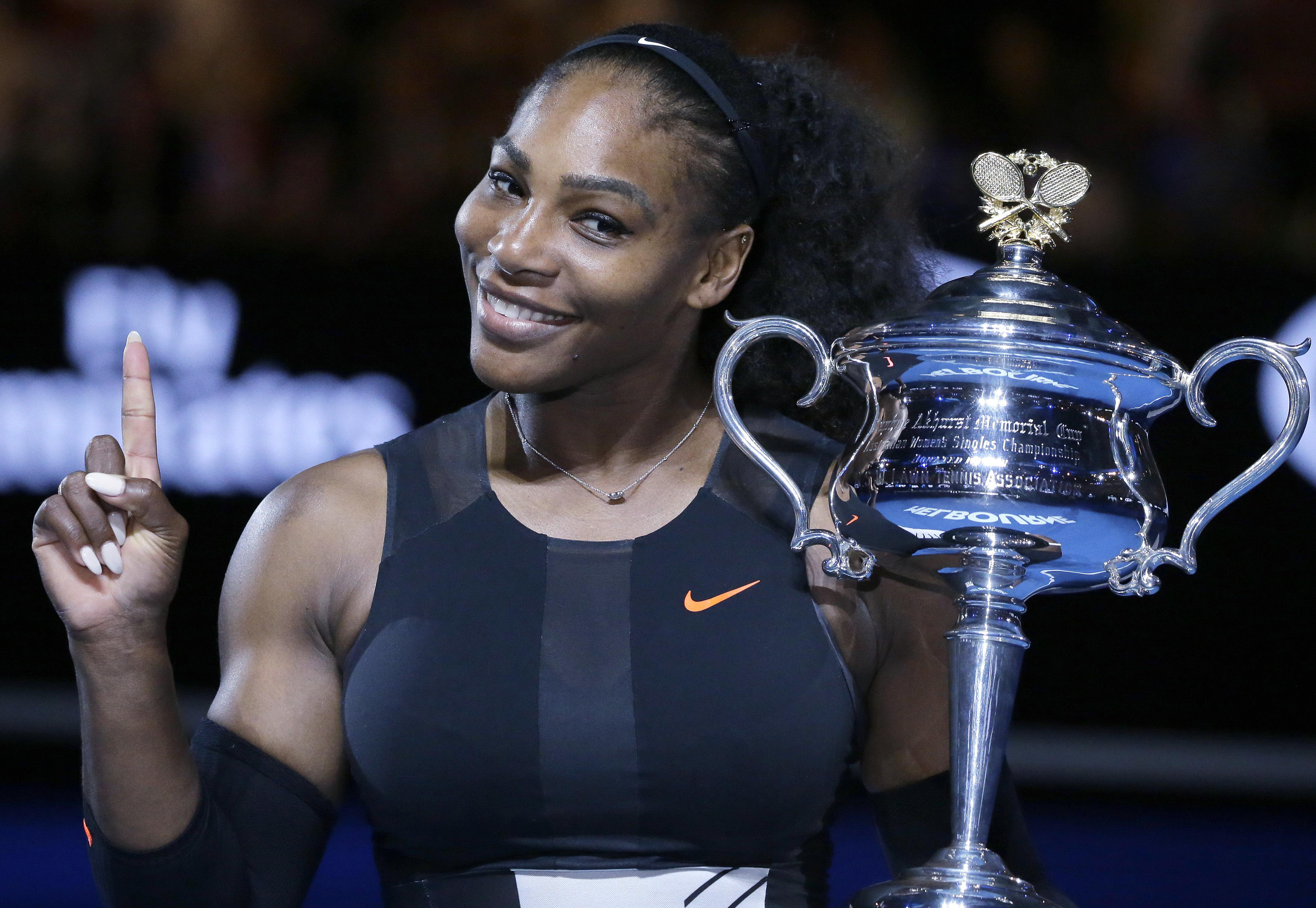 Williams won the tournament while eight weeks pregnant last year