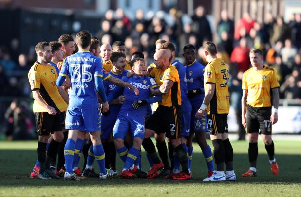 nintchdbpict000376658942 - Leeds ace Sami Saiz facing SIX match ban after being accused of spitting at Newport's Robbie Willmott