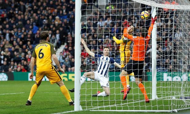 nintchdbpict000377956060 - West Brom 2 Brighton zero: Watch highlights as Jonny Evans and Craig Dawson net to end 20-match winless run and get Alan Pardew's first Premier League win