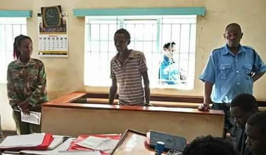 Munyao, 20, was arrested after his devastated mother reported him to authorities