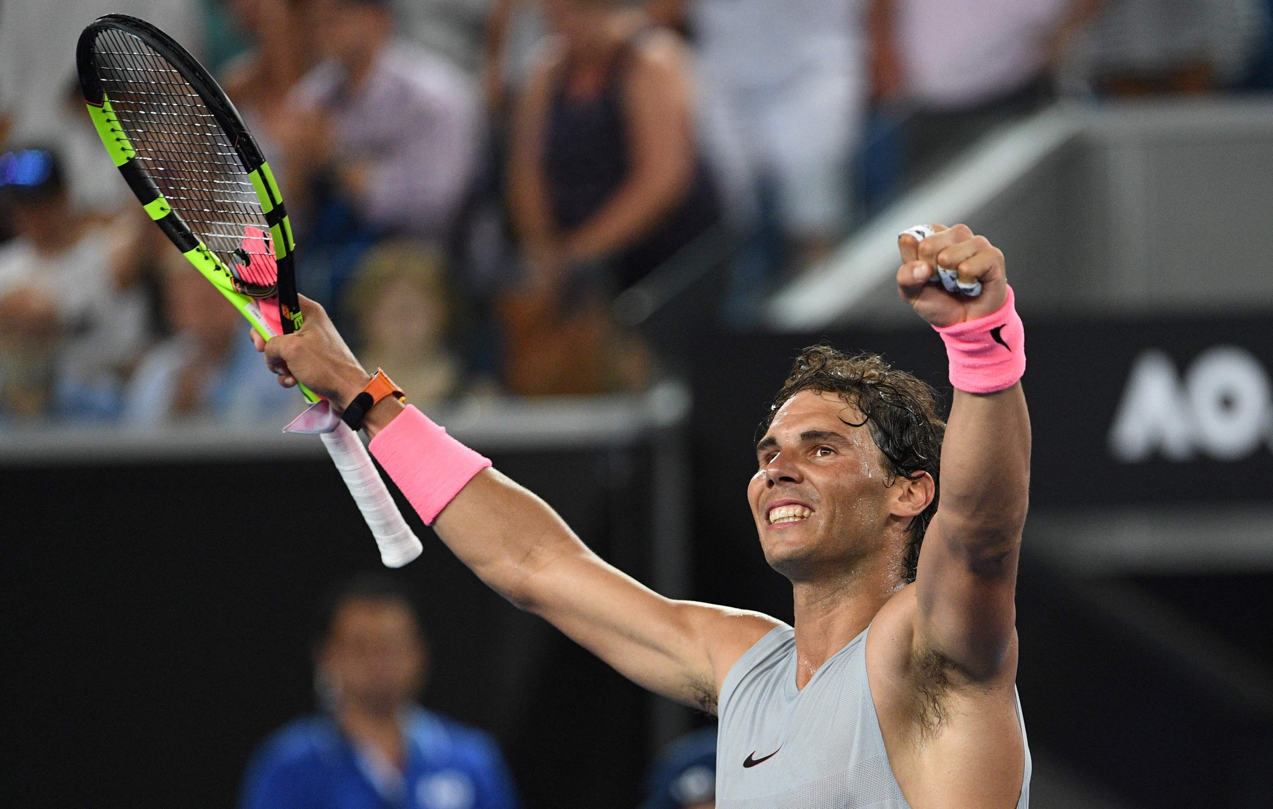 Rafael Nadal stormed past Damir Dzumhur at the Australian Open