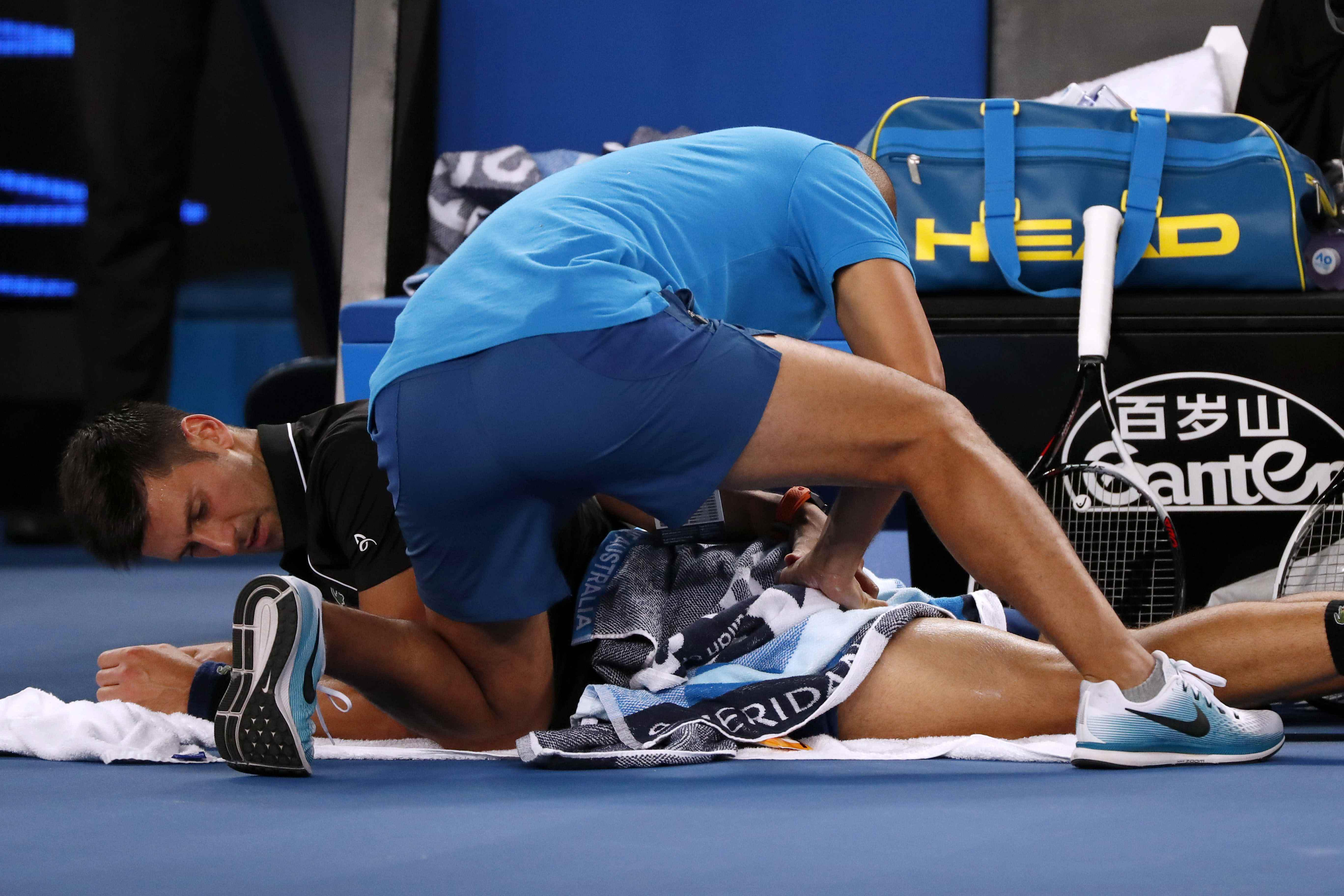 Novak Djokovic called for a medical timeout during the Australian Open match